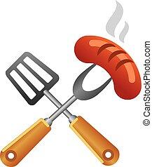 jelkép, grillsütő