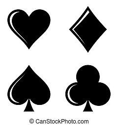 jelkép, játék kártya