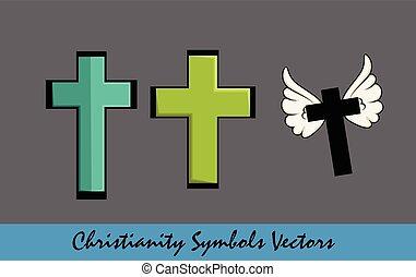 jelkép, -, kereszt, jámbor, kereszténység
