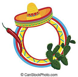 jelkép, keret, mexikói