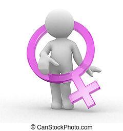 jelkép, női