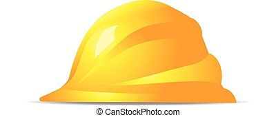 jelkép, nehéz, sárga, vektor, biztonság, Kalap, ikon
