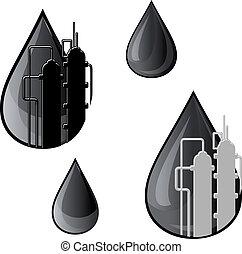 jelkép, olaj, benzin