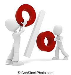 jelkép, százalék, játék, ember, 3