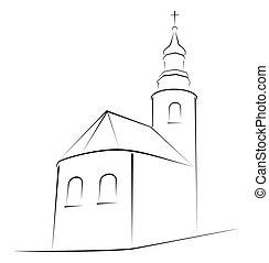 jelkép, templom