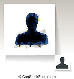 jelkép, triangulated, avatar