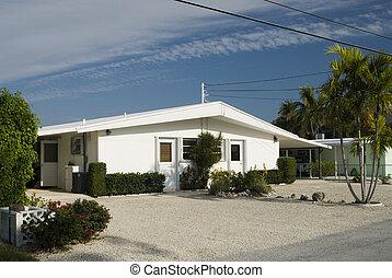 jellegzetes, otthon, építészet, a, florida kulcs