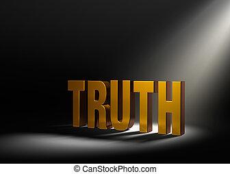 jellemző, igazság