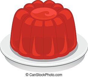 Jello - Illustration of a Red Jello
