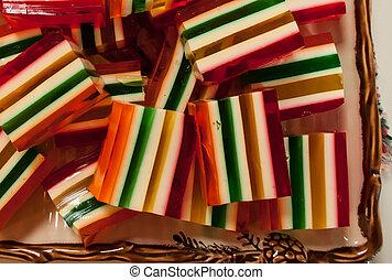 jello, quadrados, festivo