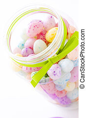 Jelly beans - Assorted jelly beans in pastel colors with...