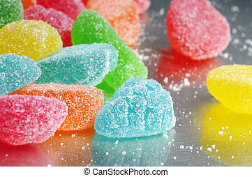 jelly candy - fruit jelly candies on tray