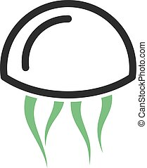Jelly Fish - Jellyfish, sea, jelly icon vector image. Can ...