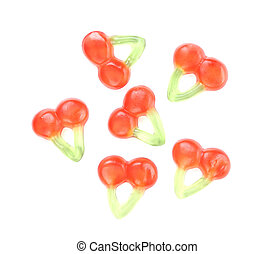 Jelly fruits in form of cherries