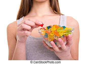 Jelly gummy bears! I love them!