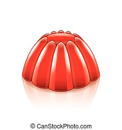 Jelly isolated on white vector - Jelly isolated on white...