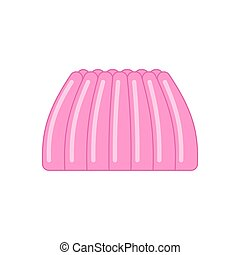 jelly pudding isolated. sweet jell. sweetness gelatin. vector illustration