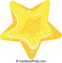 Jelly star icon, cartoon style