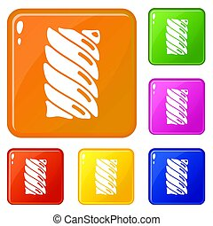 Jelly stick icons set color