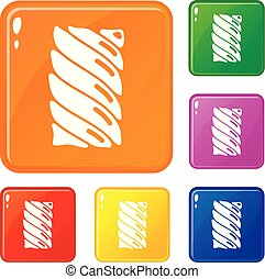 Jelly stick icons set vector color