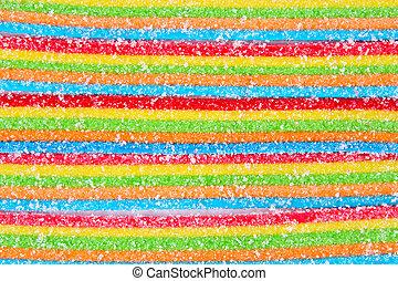 Jelly sugar candies  background