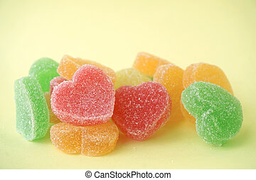 Jelly sweets heart