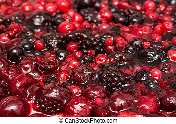 Jelly Topping With Berries - Jelly Topping Close Up With...