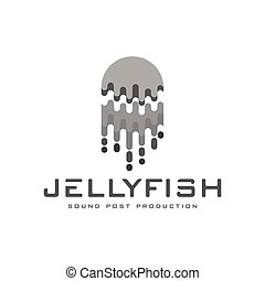 Jellyfish abstract logo vector template