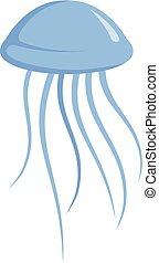 Jellyfish icon, cartoon style