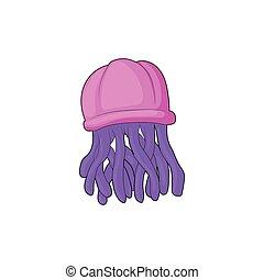 Jellyfish icon in cartoon style