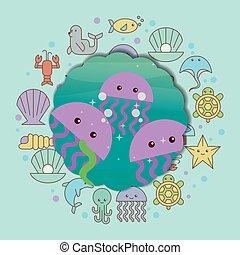 sea life cartoon