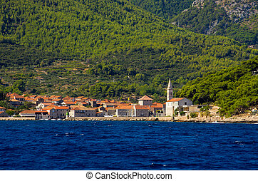 Jelsa town on Hvar island, Croatia