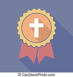 jelvény, árnyék, keresztény, kereszt, hosszú