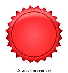 jelvény, gombol, -, piros