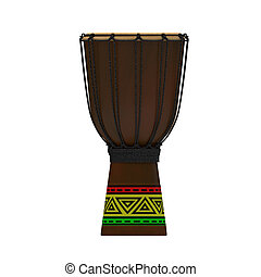 Jembe drum with texture rasta