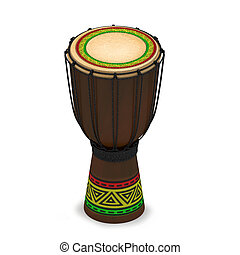 Jembe drum with texture rasta