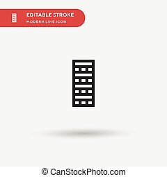Jenga Simple vector icon. Illustration symbol design template for web mobile UI element. Perfect color modern pictogram on editable stroke. Jenga icons for your business project