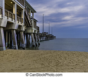 Jennette's fishing pier in the Outer Banks