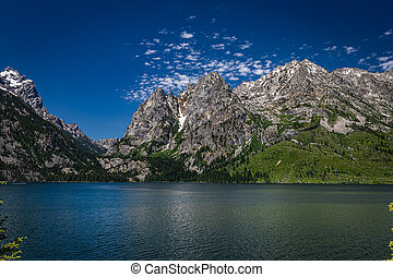 Jenny Lake at Grand Teton National Park in the Rocky Mountains of Wyoming.