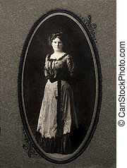 Victorian portrait of young woman