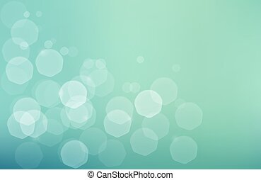 Jentle bokeh green blue background