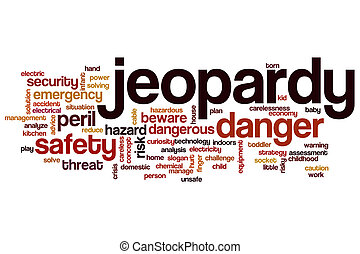 Jeopardy word cloud concept