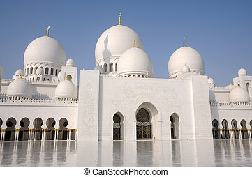 jeque, unido, zayed, mezquita, árabe, emiratos, abu dhabi