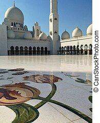 jeque, zayed, dhabi, mezquita, abu