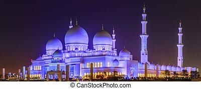 jeque, zayed, mezquita, magnífico