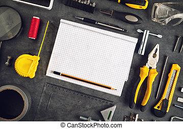 Jer, redskaberne, det, Notesbog, Sorteret