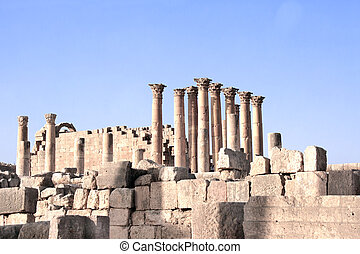 jerash, ヨルダン, 寺院, artemis
