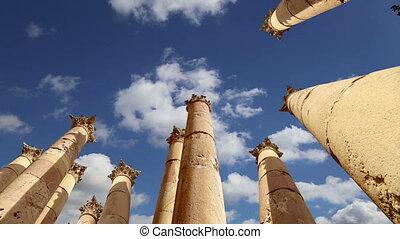 Jerash (Gerasa of Antiquity),Jordan - Roman Columns in the...