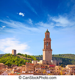 Jerica Castellon village skyline in Alto Palancia of Spain ...
