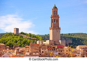 Jerica Castellon village skyline in Alto Palancia of Spain...